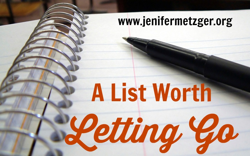 A #List Worth Letting Go   #forgiveness