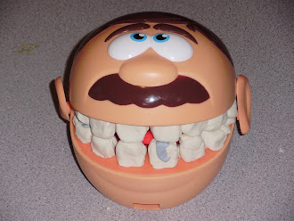 Mr. Man must see the dentist...His teeth are giving him fits!