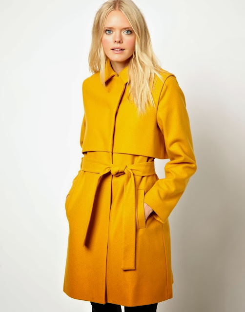 mustard wool coat
