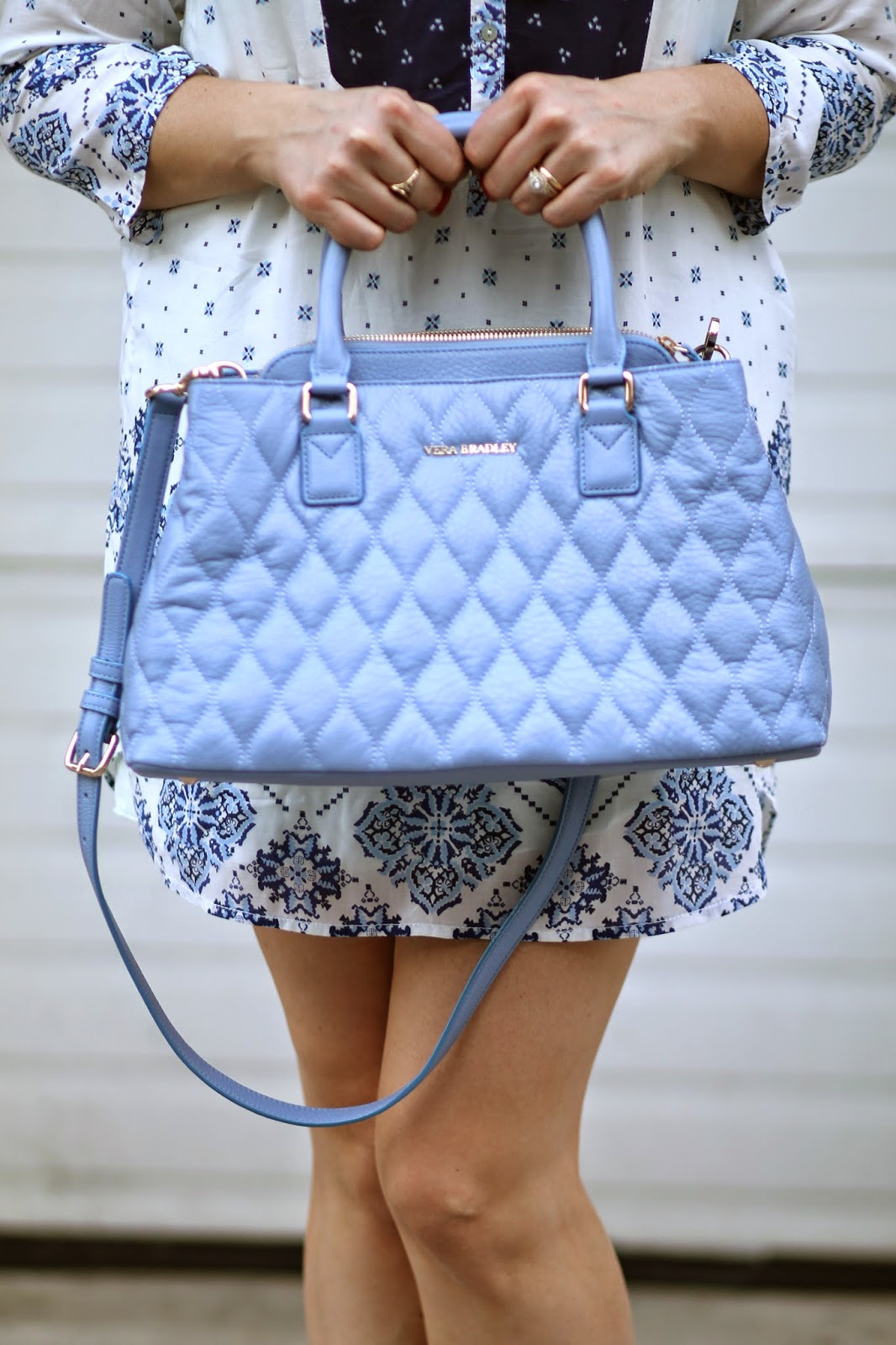 emma, satchel, vera, Bradley, chambray, leather, quilted