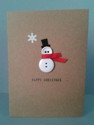 Thiệp Giáng Sinh Handmade Từ Cút Áo