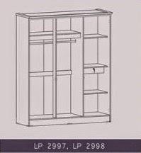 Tampak Dalam Lemari Pakaian 3 Pintu Supernova Series Graver Furniture
