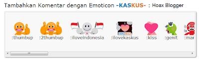 Cara Memasang Emoticon Kaskus Di Blog