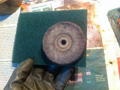 Disco abrasivo y fibra verde del mercadona