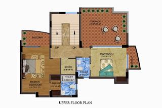 Czar Suites :: Floor Plans:-Arthur 2 - Upper Floor Plan Area - 3447 sq. ft. Terrace Area - 1096 sq. ft.