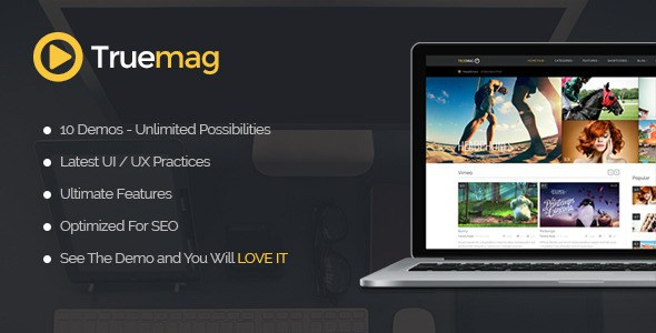 Download Free True Mag WordPress Theme for Video and Magazine Hosting