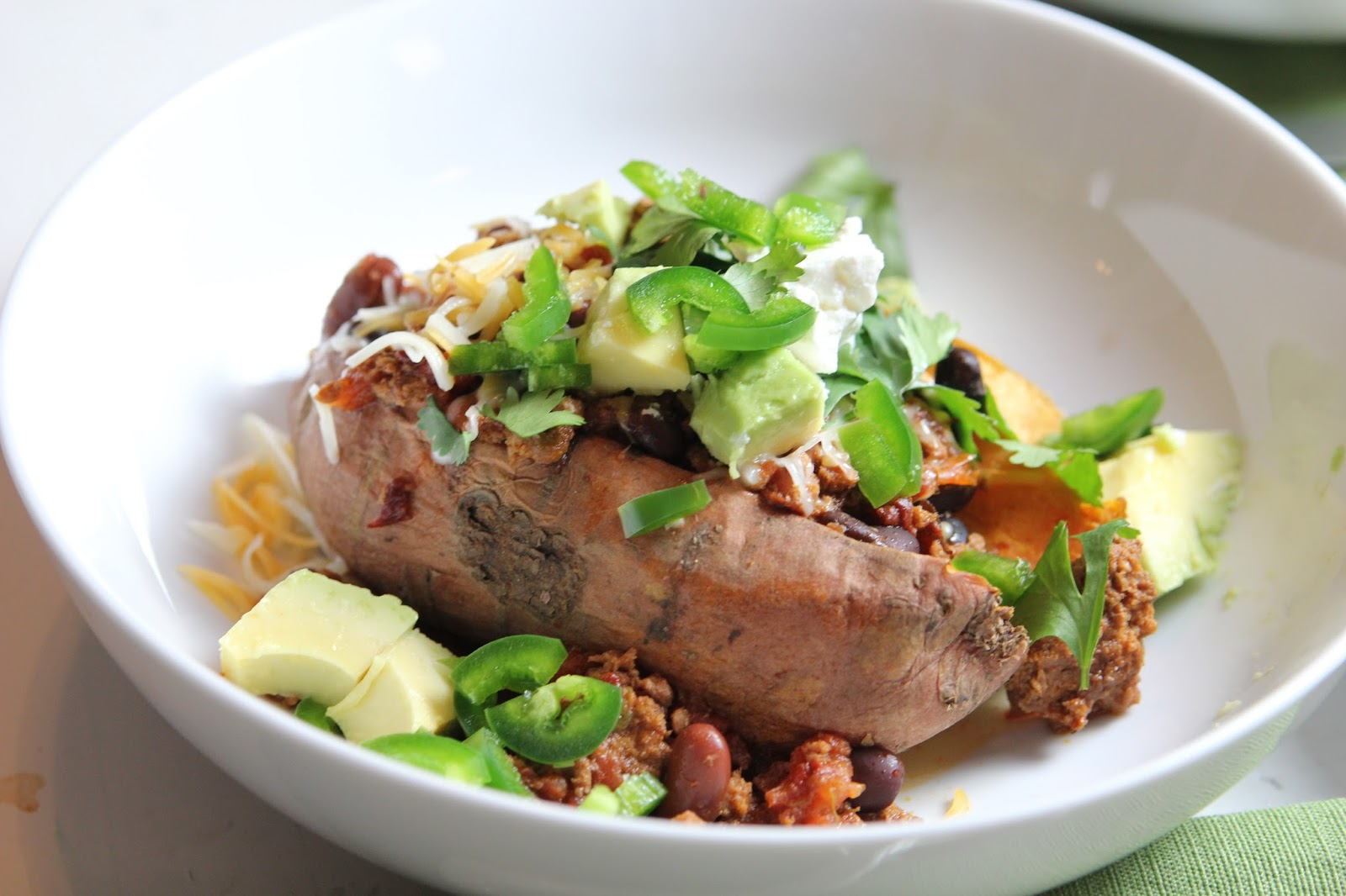 carmen's kitch: Loaded Baked Sweet Potato with Mexican Slow Cooker ...