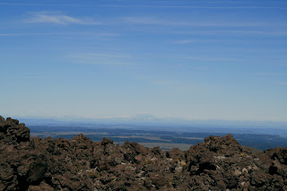 Mt Taranaki, still visible in the distance. The view is mostly sky.