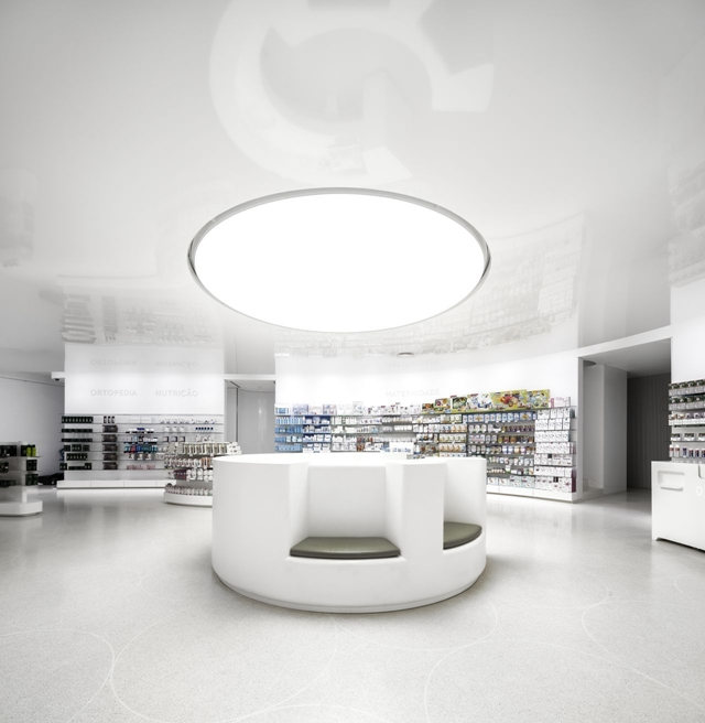 Picture of modern white interiors in the pharmacy building