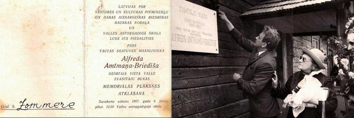 Memoriālās plāksnes atklāšana 1967. gada 4. jūnijā - 1