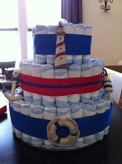 Inez Castillo Sierra nautical diaper cake