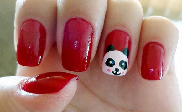 unha decorada panda