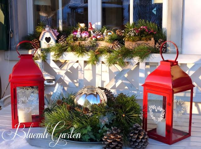 bluemli garten 1 advent mit schnee und. Black Bedroom Furniture Sets. Home Design Ideas