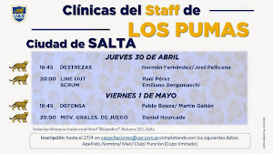 Clínicas del staff de Los Pumas en Salta