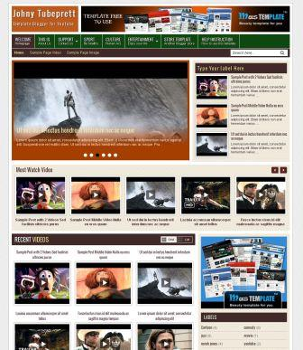 blogger template video