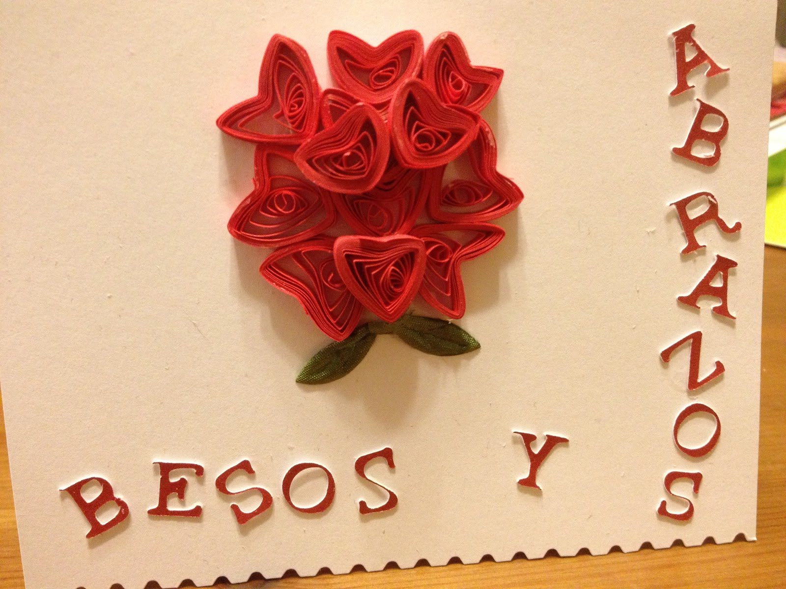 Quillfully yours quilled tarjetas feliz dia de san valentin - Postales dia de san valentin ...