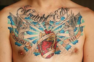 Татуировка шафки, считающего себя straight edge