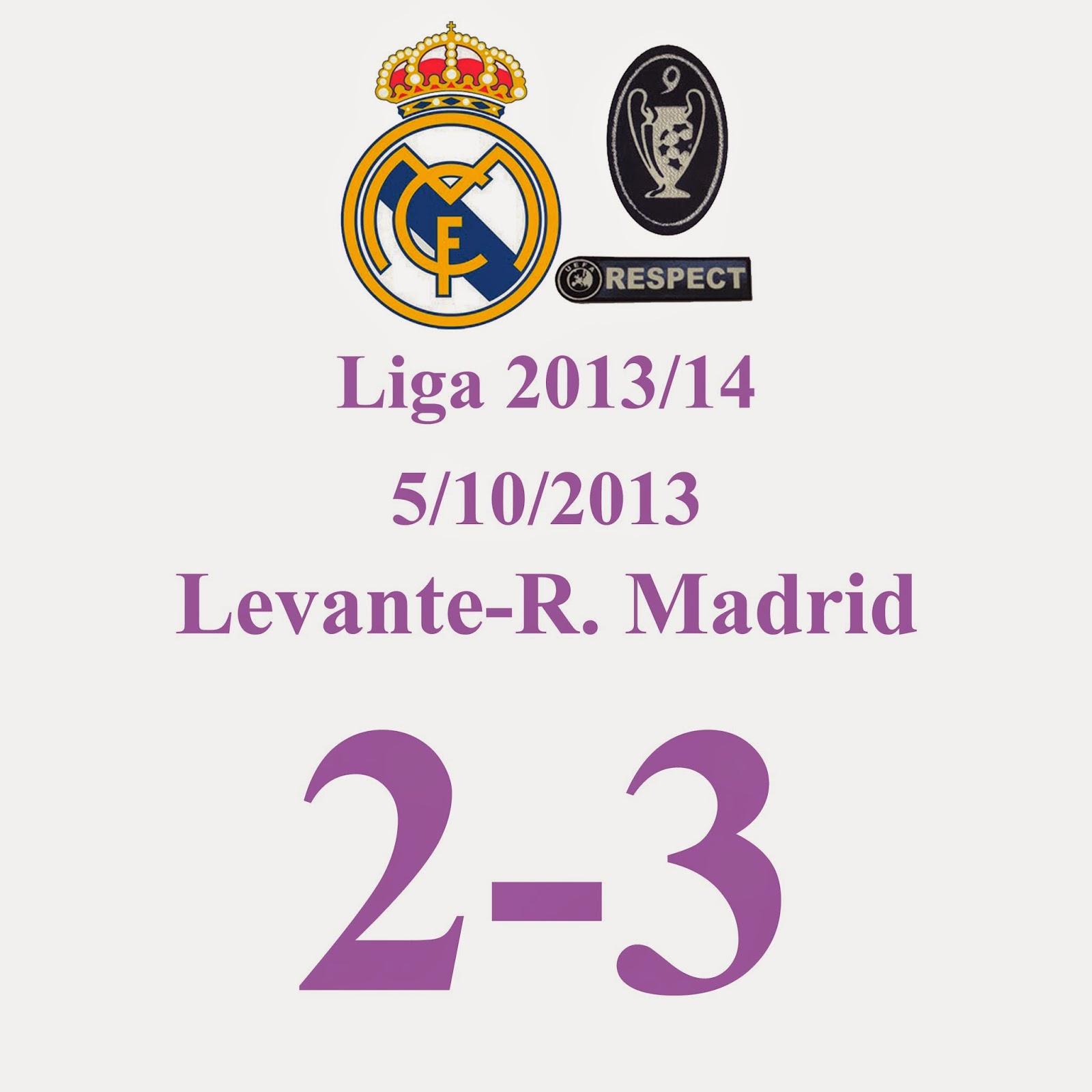 Levante 2 - Real Madrid 3 (Jornada 8) 5/10/2013 - GOOOOLLLLLLLL DE CRISTIANO RONALDO