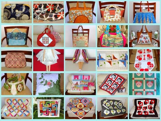 Vídeos de bolsas, Vídeos de patchwork, Vídeos de bonecas