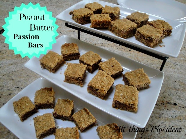 All Things Provident: Peanut Butter Passion Bars