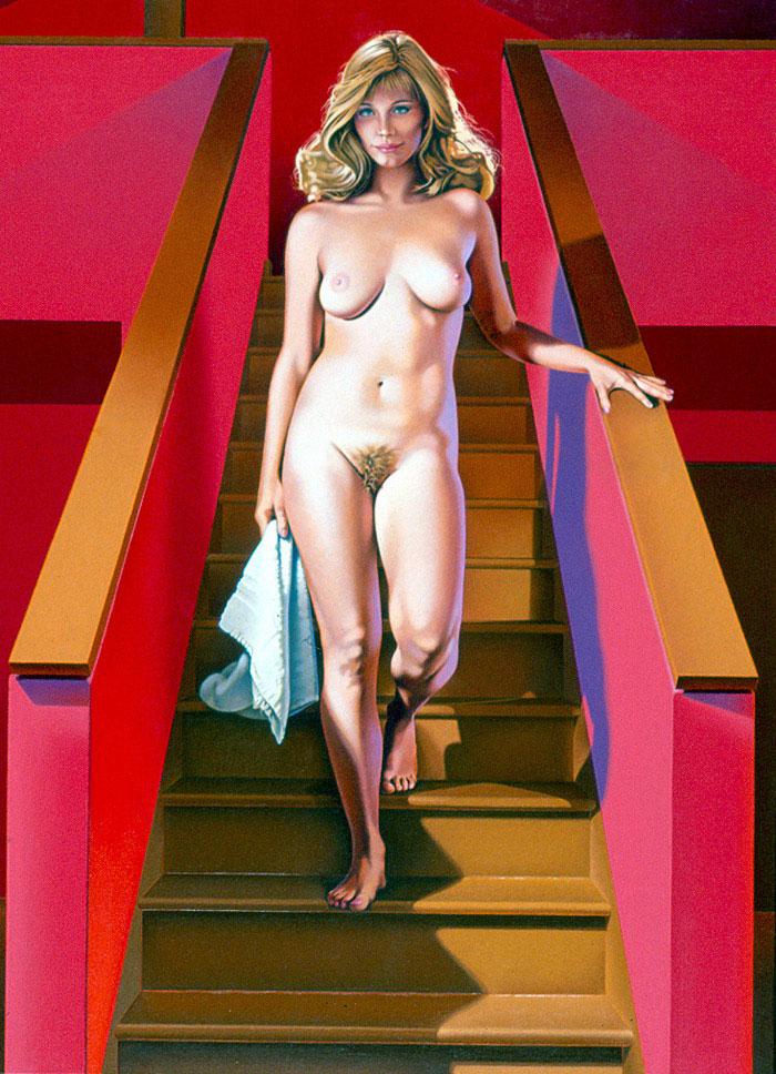 Kennedy nude descending a staircase