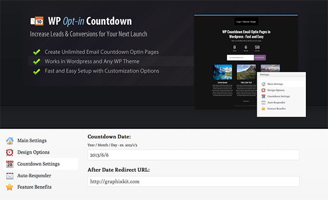 Download WordPress Opt-in Countdown Free