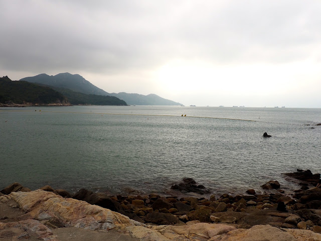 View out to sea from Hung Shing Yeh beach, Lamma Island, Hong Kong