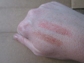 Jane Iredale Lip Plumper Tokyo Swatch, Burberry Copper 202 Swatch