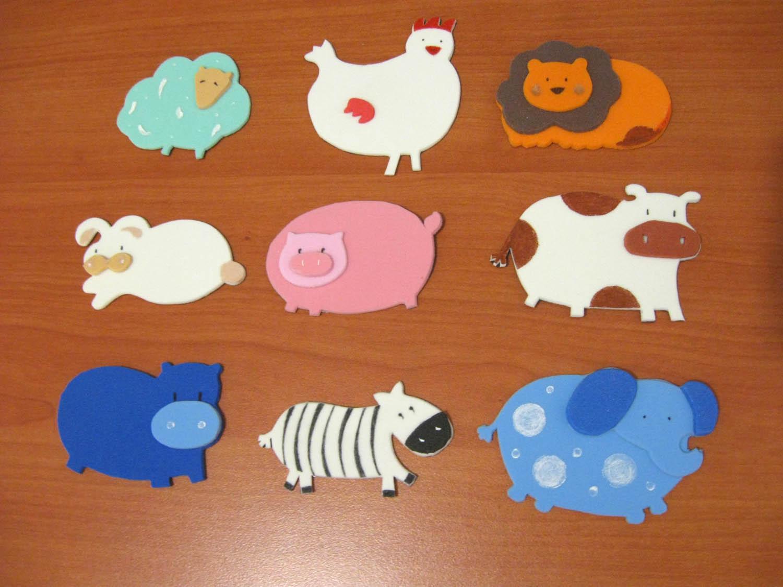 ACCESORIOS INFANTILES con diseño: Figuras apliques en goma eva