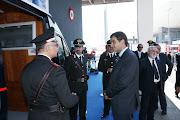 Il Ministro Fitto visita lo stand dei Carabinieri in Fiera a Bari