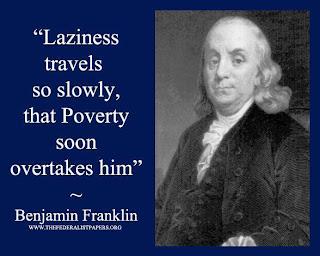 A preguiça vem devagar, tão devagar que a pobreza logo a alcança