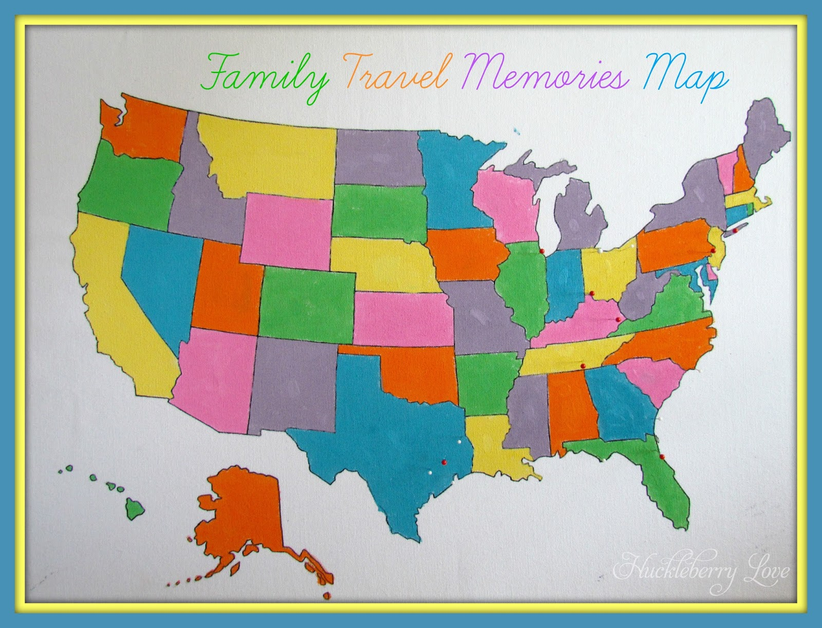 Huckleberry Love DIY Family Travel Memories Map – Family Travel Map