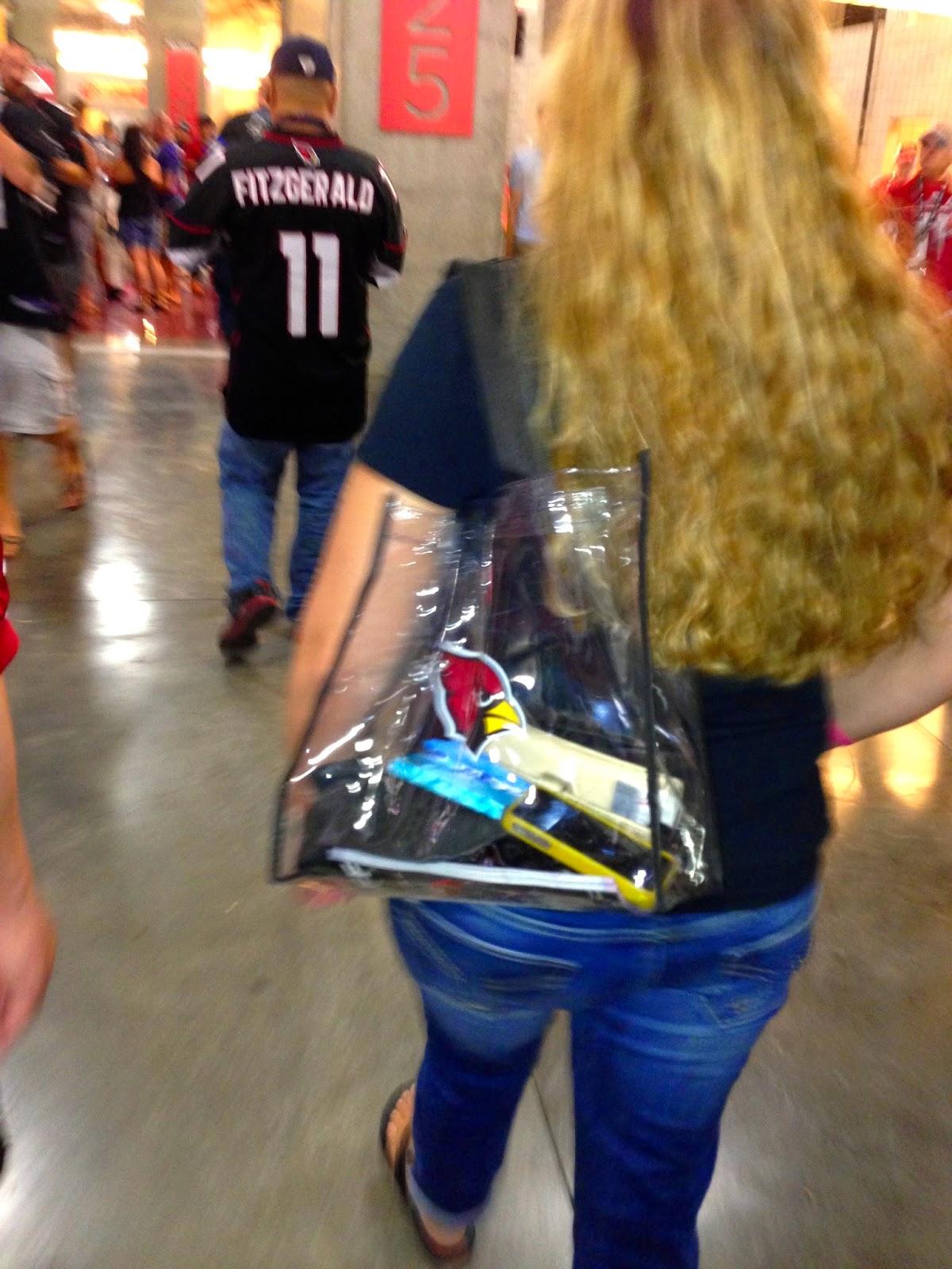 NFL Cardinals clear bag - Hello, Handbag