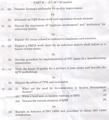 ge2022 total quality management question papers anna university Received r&d financial assistance for ug students project from the institution of engineers (india), kolkatta, iisc msme centre for excellence, bangalore, quality circle - r&d cell, klnce received grant-in-aids from various agencies such as aicte, tnscst, csir, anna university chennai for modrobs, conducting.