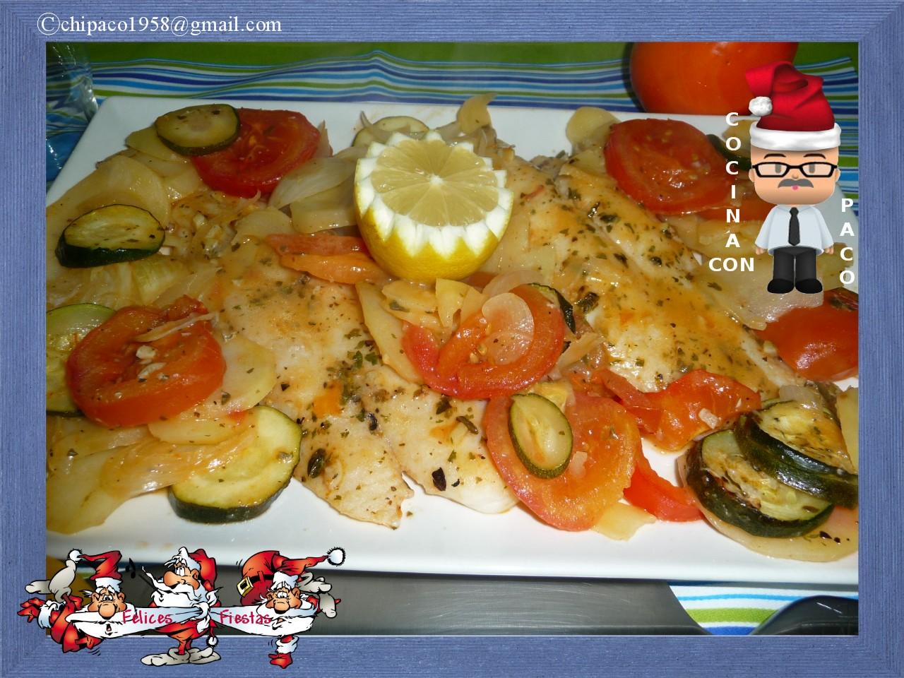 Como Cocinar Panga | Cocina Con Paco Panga Al Horno Con Verduras
