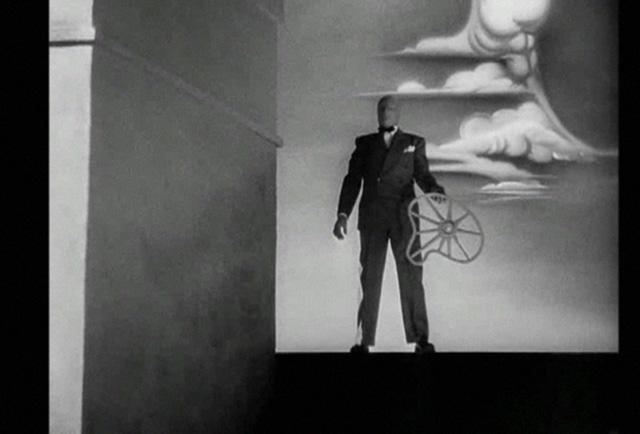 Una escena de la secuencia del sueño de Recuerda..., obra del pintor Salvador Dalí.