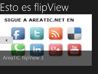 areaTIC, Windows 8 / Windows Phone - Programar un FlipView, Resultado