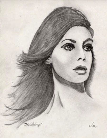 David Moss Drawing She Was The Kate Moss of Her
