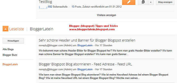 Mitglied dieser Seiter werden - Blogger Blogspot Blog folgen