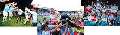 Paco Herrera en la celebración del ascenso del Celta en 2012