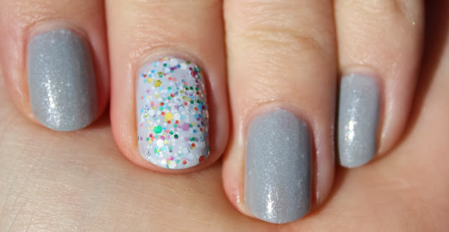 Illamasqua raindrops nail swatch, china glaze it's a trap-eze! nail swatch