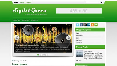 stylishgreen ads ready blogger template Top 10 Ads Ready Blogger Templates to Maximize CTR