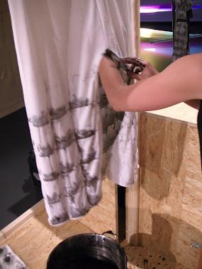 Preparing Peat Bath Dress Detail