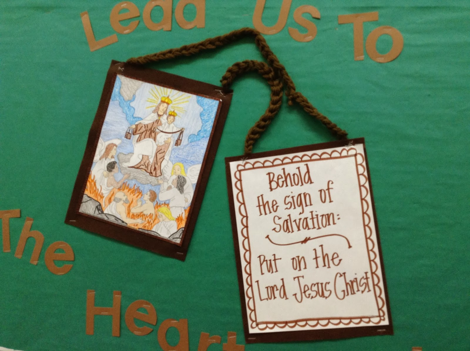 look to him and be radiant celebrating the brown scapular