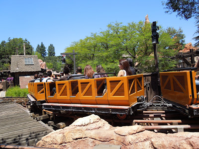 Big Thunder Mountain Railraod cars station approach end