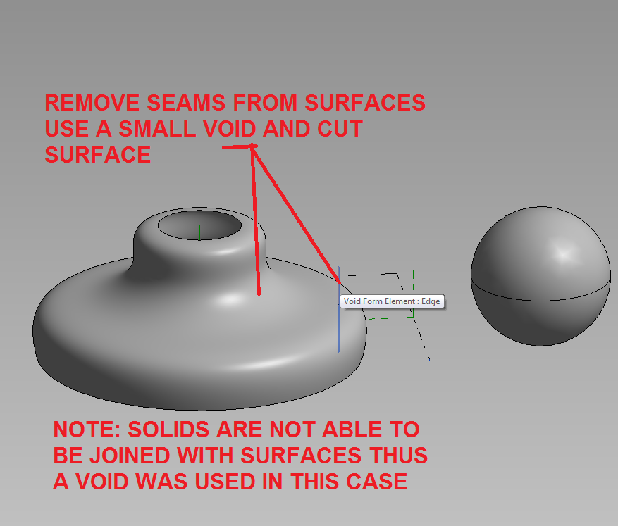 How I Remove seams from Mass and AC revolve surfaces and solids in Revit