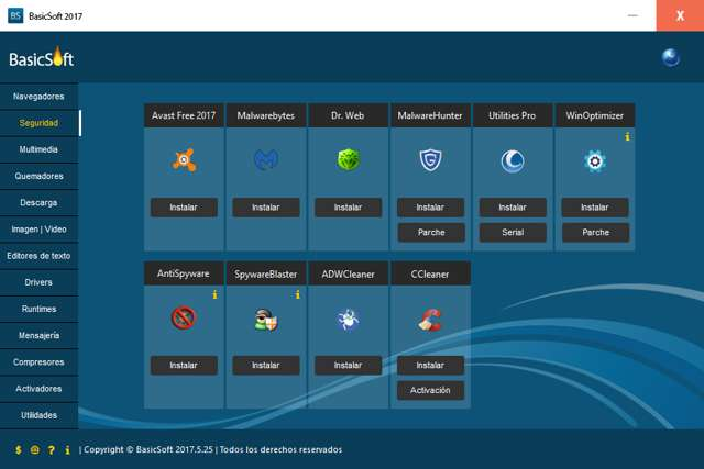 TEU BasicSoft v2017 Pack de programas en Español