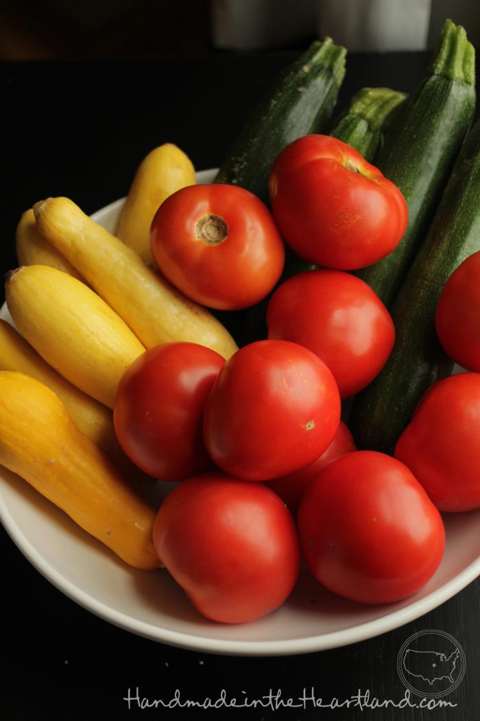 Summer Squash, Zucchini, Tomatoes