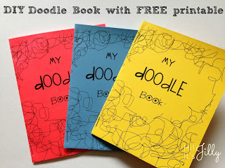DIY Doodle Book with FREE Printables. Your kids will love them!