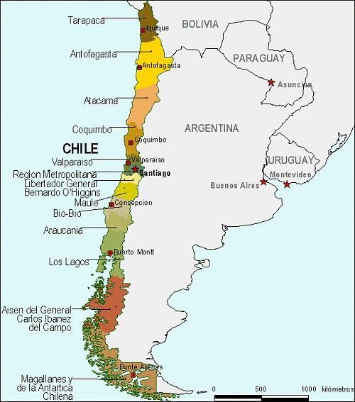 Mapa De Chile Para Imprimir